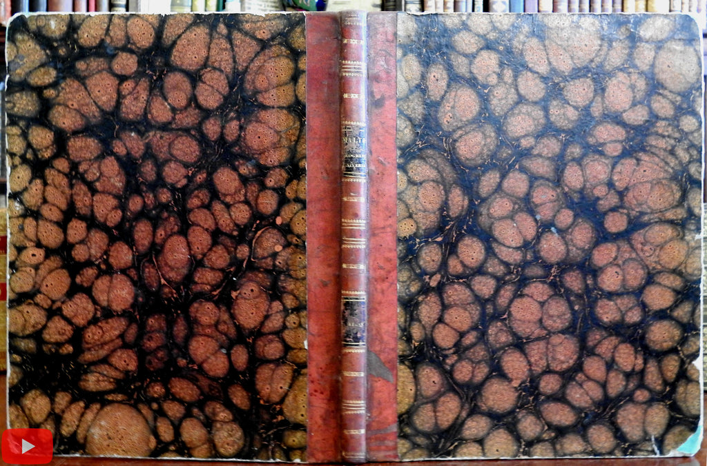 World Atlas 1842 Geography Malte Brun folio book w/ 74 maps modern & ancient