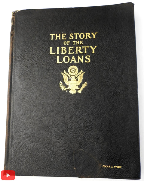 WW I Poster art Liberty Loans 1919 color plate book graphics St. Clair w/ photos