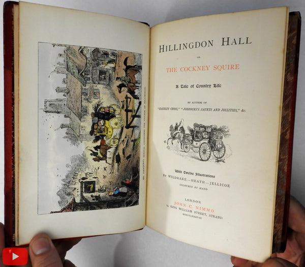 Surtees Hillingdon Hall 1888 Nimmo book hand colored plates Wildrake Heath Jellicoe