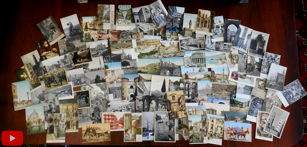 Italy Italia travel views c.1900-30's wonderful lot of 100 antique postcards