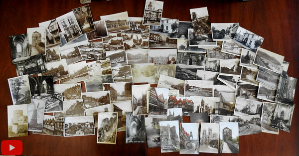 England British Isles Scotland c.1900-40's Lot of 85 RP real photo views postcards