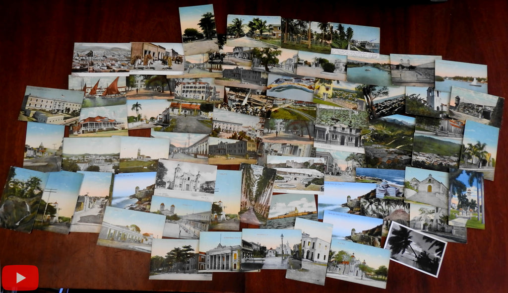 Caribbean Porto Rico Mexico c.1900-20's Lot of 68 vintage postcards nice views