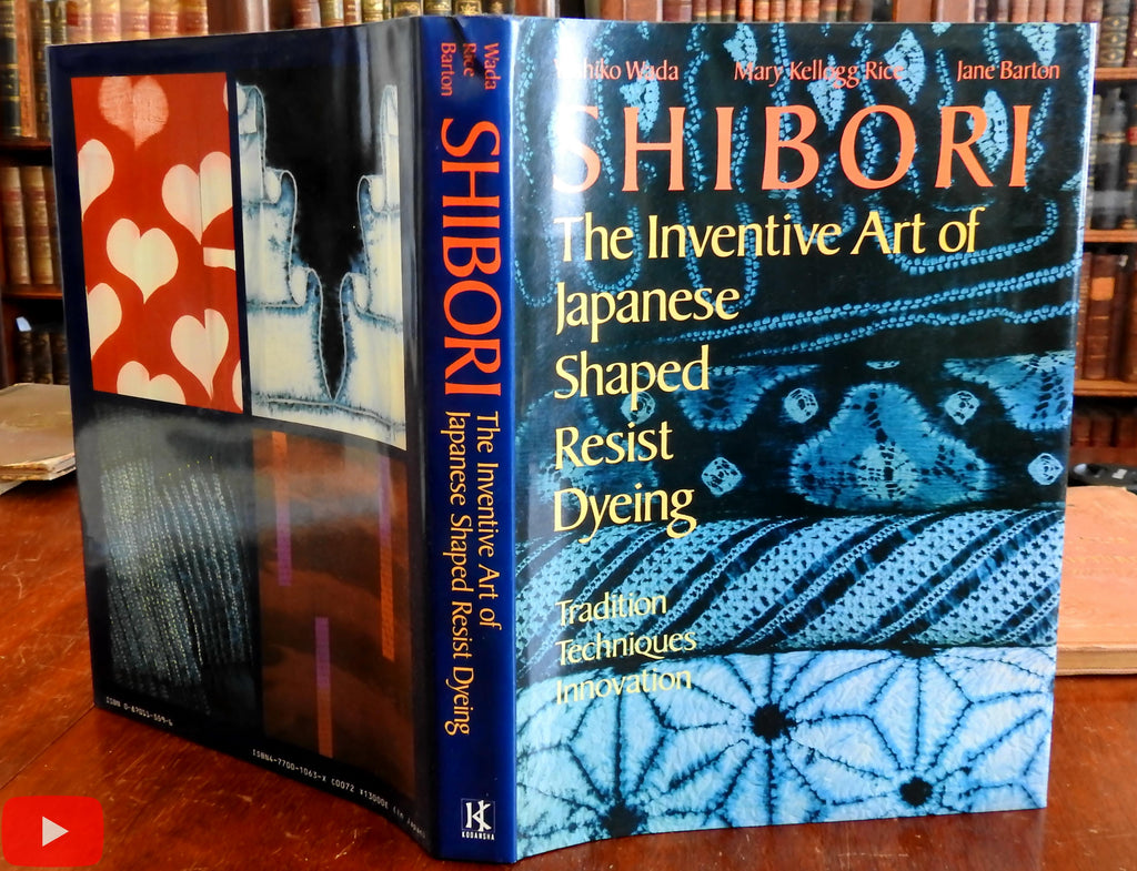 Japanese Shibori Shaped Resist Dyeing Fabric 1983 Wada book lovely 1st Edition