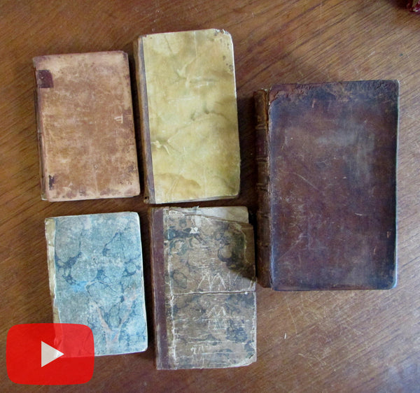 American Books 1775-1800 collection 5 old 18th Century imprints