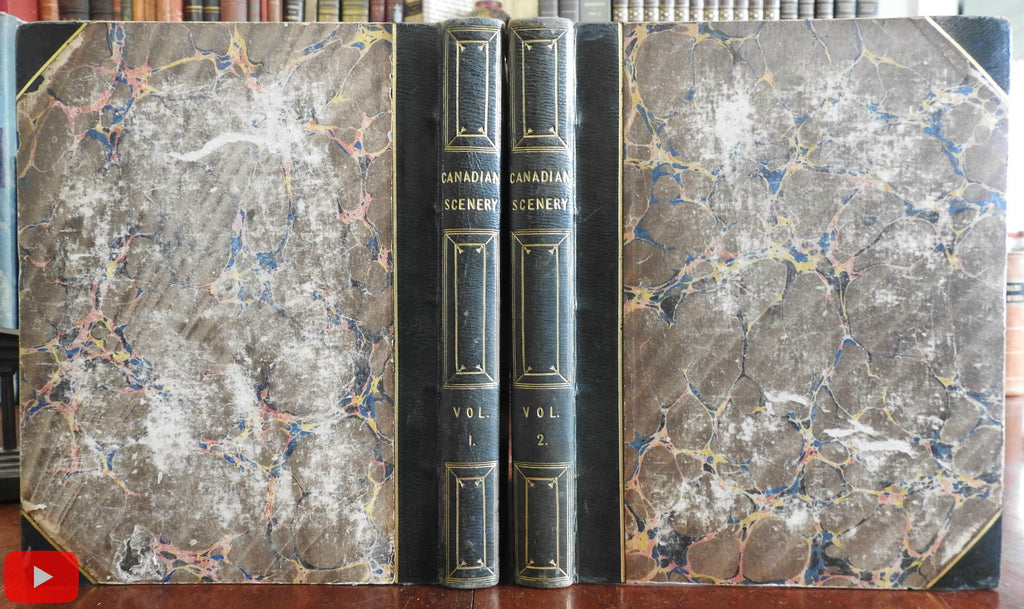 Canada Canadian Scenery 1842 Bartlett Willis fine 2 vol. set 119 engraved plates