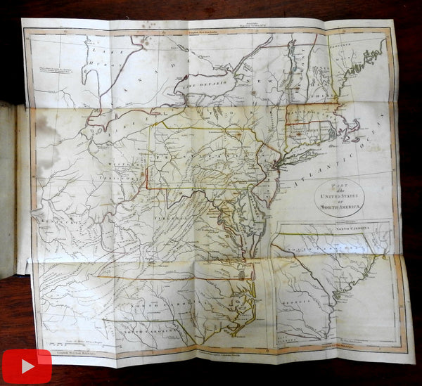 North American Travel 1798-9 Weld books maps Washington D.C. Quebec Great Lakes