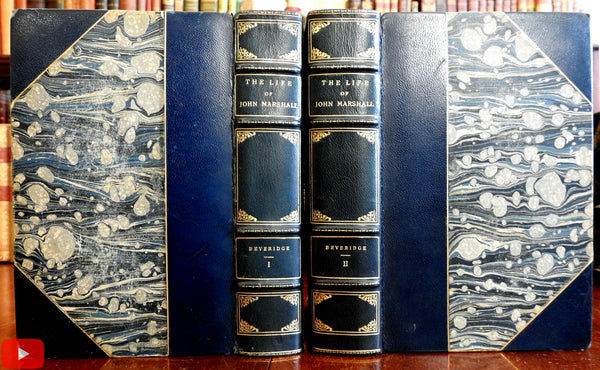 Life of John Marshall 1929 Beveridge 2 vol. leather set Chief Justice Supreme Court