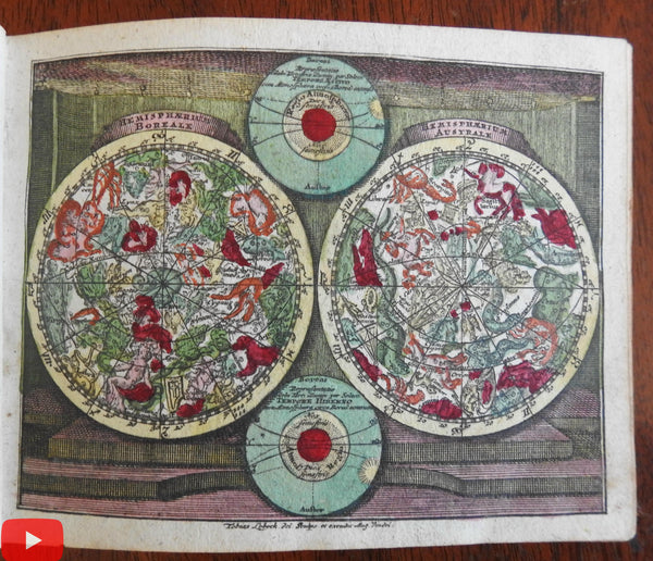 Atlas Portabilis c.1750 Lobeck & Lotter complete miniature world atlas 29 maps