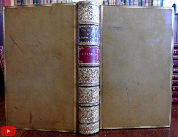 Samuel Taylor Coleridge 1849 Confessions Inquiring Spirit fine Pickering leather book
