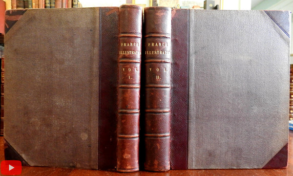 France Illustrated c.1840-50 Allom & Wright illustrated set 128 engraved plates views