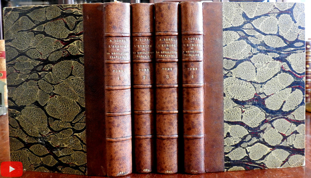 French Revolution Europe 1887-92 Sorel fine 4 vol. leather set politics history