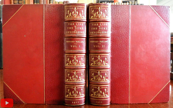 Life Spencer Compton Duke Devonshire 1911 fine books 2 vol. leather set Holland