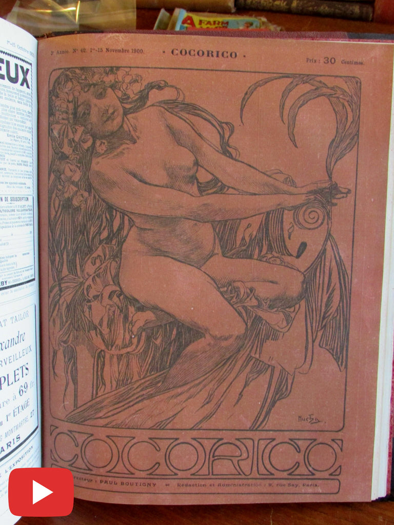 Cocorico magazine 1900 Art Nouveau Mucha 24 issues