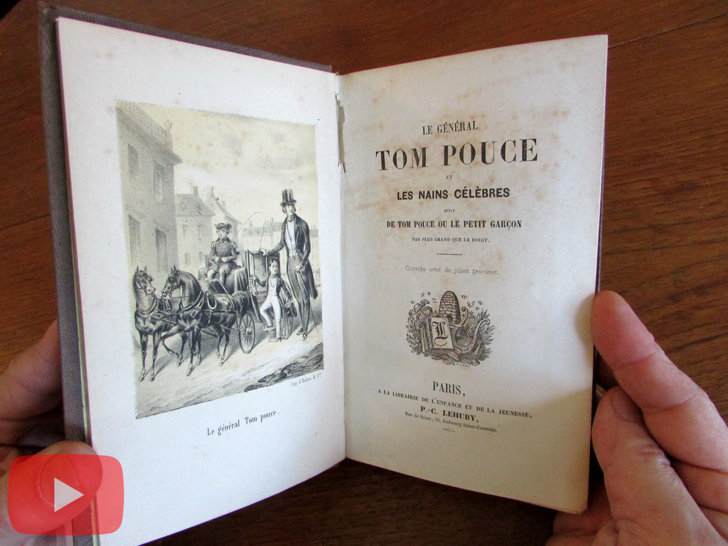 Tom Thumb c.1852 rare illustrated Childrens French book 11 lithographs