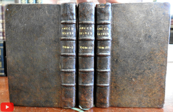 Jesuit Anecdotes 1740 by Lambert Holland charming small Dutch set 3 vols.