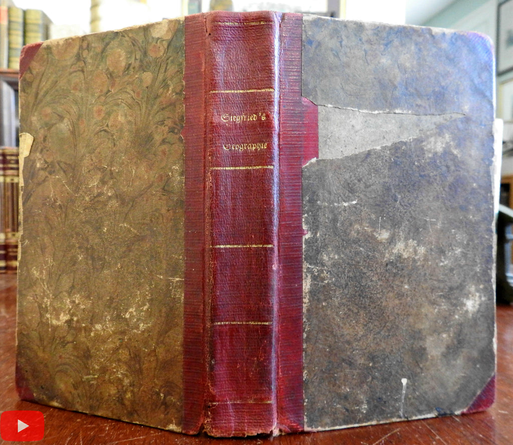 German Geographie Geography 1834 Penn. imprint by Siegfried scarce American