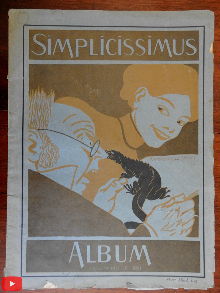 Simplicissimus 1898 April-June 3 months Art Nouveau magazine color lithographs
