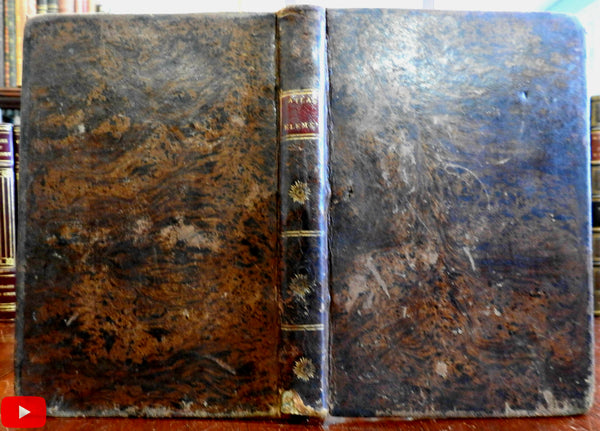 Spanish World Atlas 1795 Madrid Spain by Vazquez 22 maps & 2 diagrams leather book