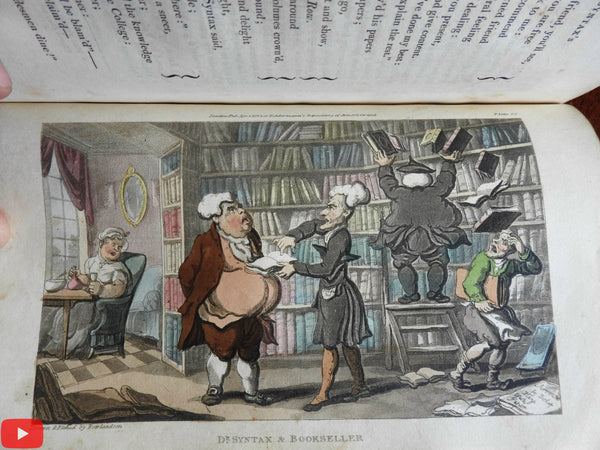 Dr. Syntax Tour 1813 Rowlandson Ackermann 29 hand color aquatints book