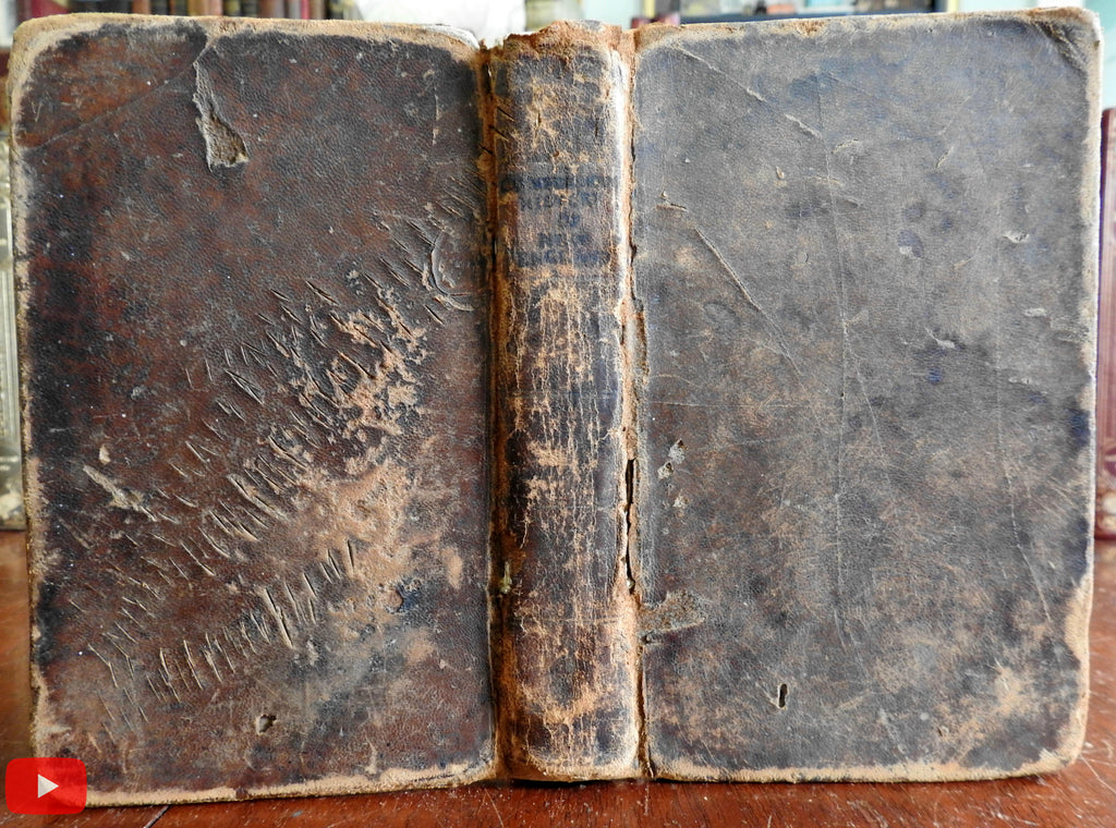 New England History 1809 Jedidiah Morse book early manuscript corrections