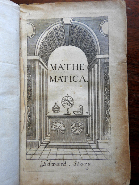 Mathematics 1683 Edward Story illustrated rare book celestial geometry w/ video