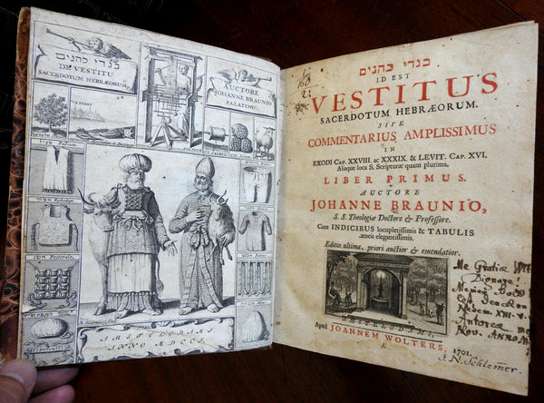 Judaism ancient Jewish culture & dress 1701 Braunio Sacred Hebrew rare book