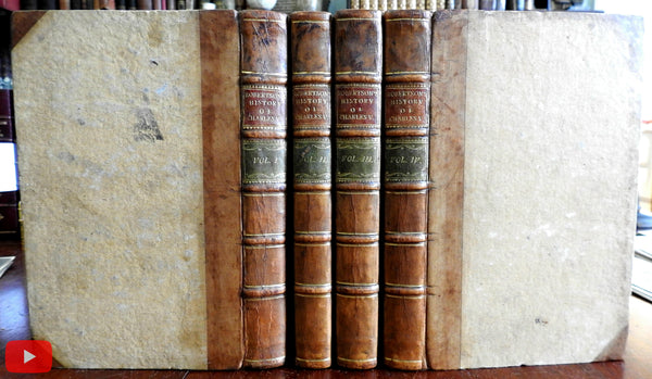 History of Charles V by Robertson 1788 Basel Switzerland fine set 4 vols leather