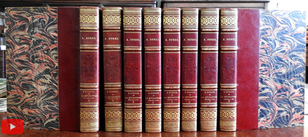 Europe and French Revolution 1905 Sorel lovely decorative gilt 8 vol set
