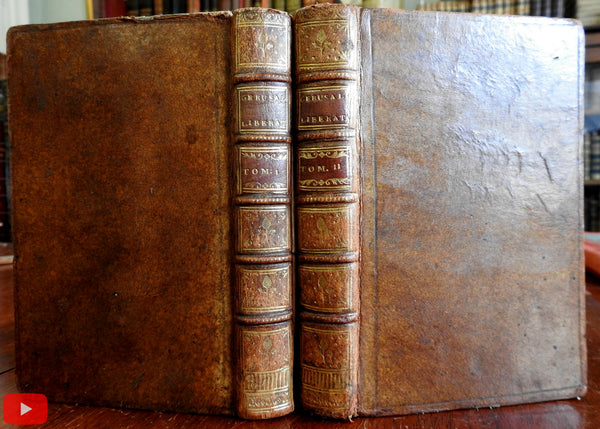 Jerusalem Delivered Liberated 1764 Tasso fine 2 vol. French Italian leather set