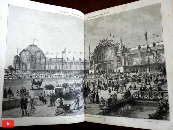Paris Universelles Exposition 1878 Massive Illustrated Weekly journal 40 issues