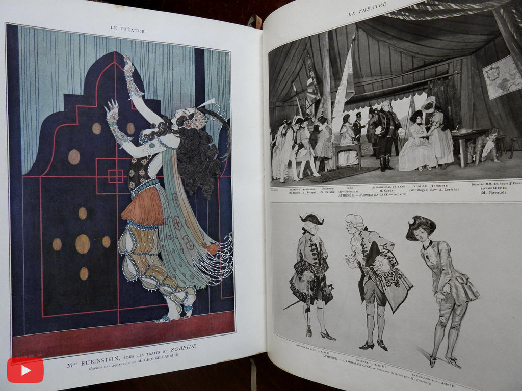 Theatre magazine 1911 France 12 issues w/ color covers hundreds of illustrations
