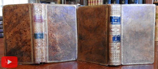 Fables of La Fontaine 1803-07 Paris lovely 2 vol set w/ engraved plates