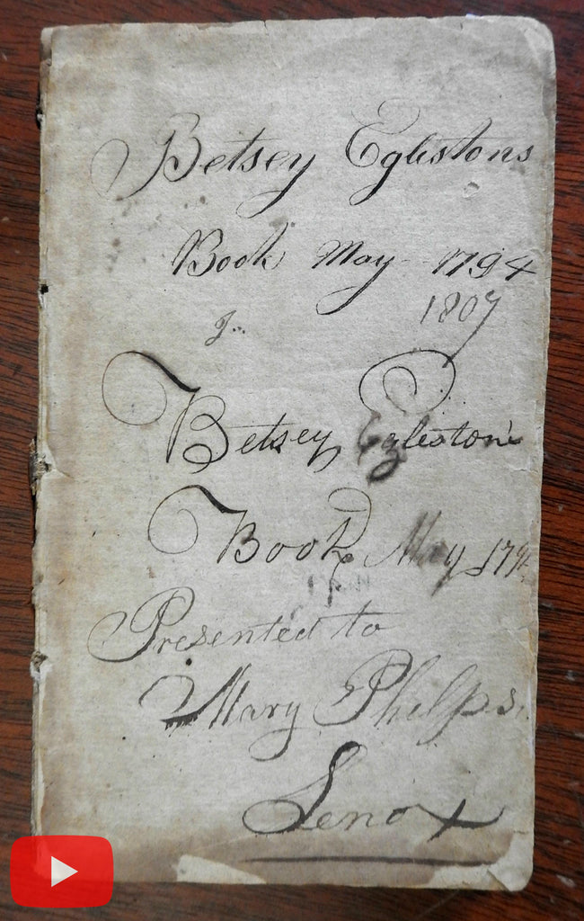 Social Conduct Life Values 1794 American book w/ 1794 female inscription