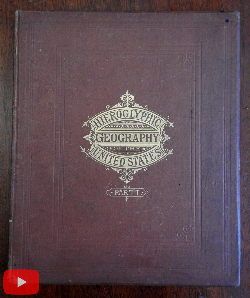 Hieroglyphic Atlas Geography 1875 Heermans & Cogswell Female creators complete rare