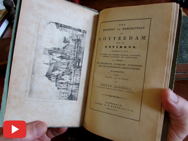 Rotterdam Holland guide book 1846 maps views rare