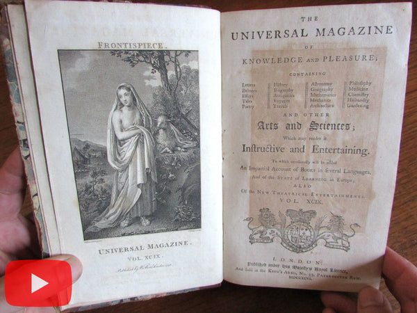 George Washington 1796 Farewell Address London Universal rare old book