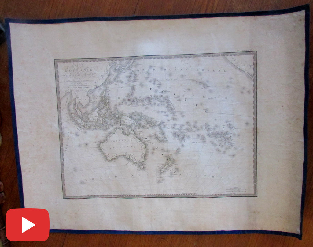 Oceania Australia Pacific 1820 New Holland Brue old map
