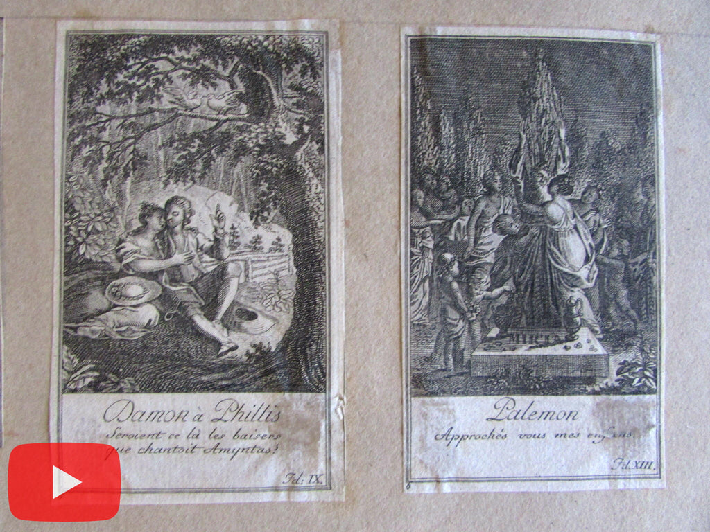 Miniature engravings c.1780-1800 era Lot x 75 old prints beds military women