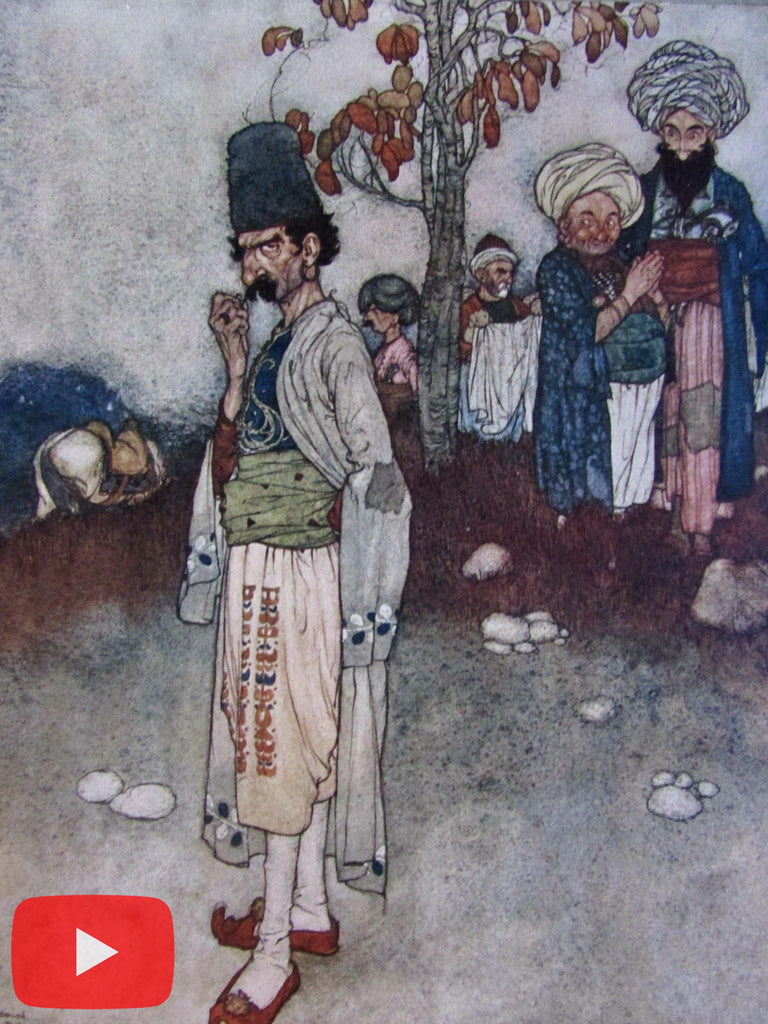 Art Nouveau Middle East Edmund Dulac 1907 Fantasy color prints lot x 10 A+