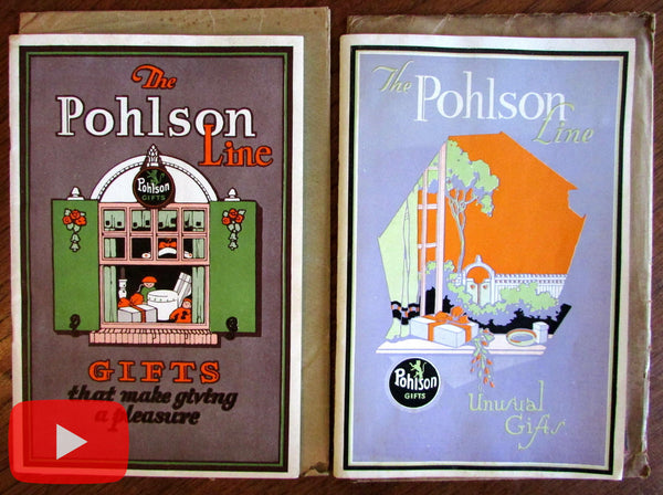 Art Deco Gift Catalogues c. 1930's Pohlson Galleries Pawtucket RI pictorial rare