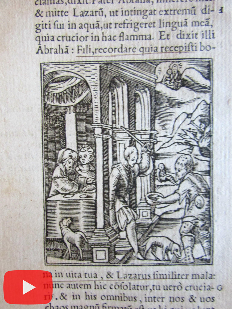 Bible scenes wood block prints 1549 lot x 7 old images Christ Religion
