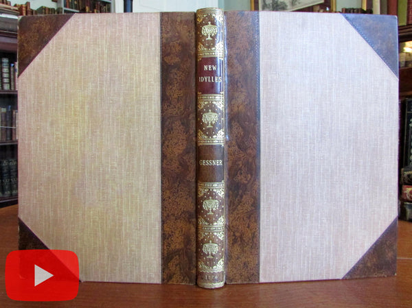 Gessner New Idylles 1776 London Diderot Hooper leather illustrated lit classic