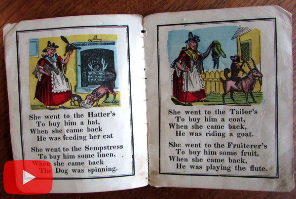 Chapbook lot 1820's-1860's woodcuts lot x 10 early illustrated children's books