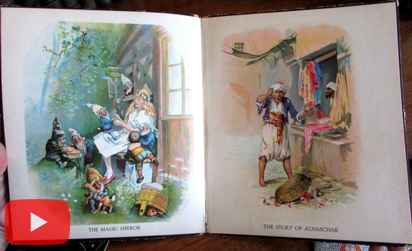 Children's Books 1910-1930's era colorful lot x 10 old books Art Nouveau Deco