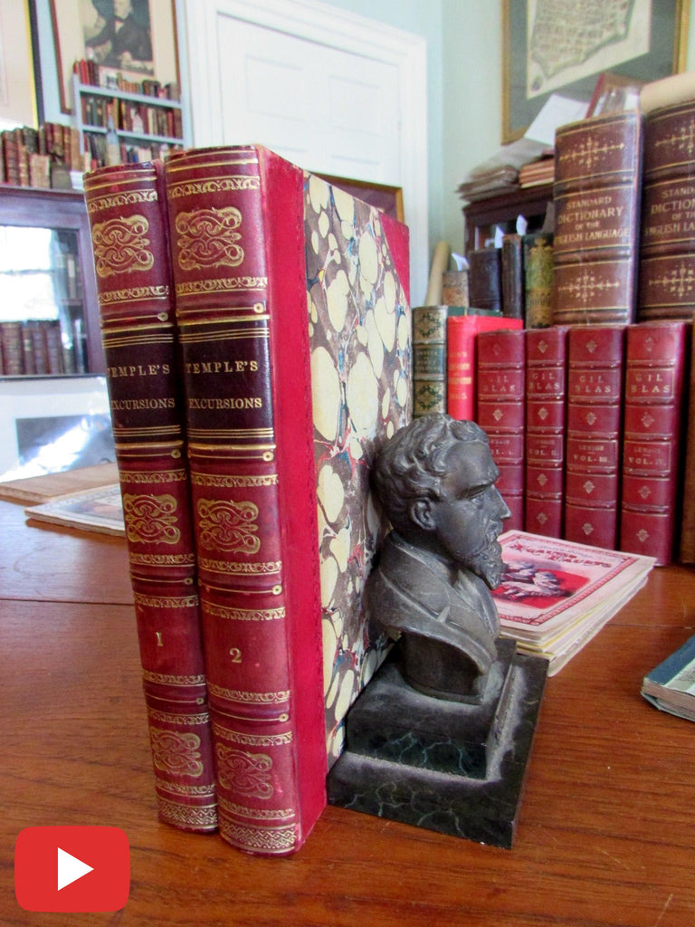 Temple Excursions Tunis Algeria Africa 1835 rare set 2 vol old books maps