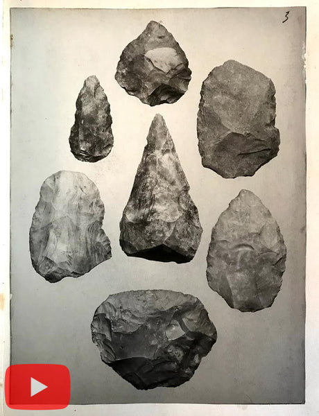 Phoenicia Beirut Lebanon 1900 Illustrated book knapping tools flintworking