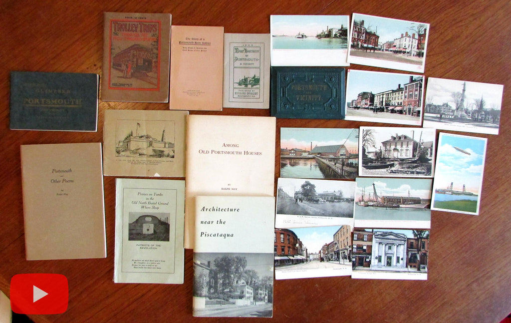 Portsmouth New Hampshire c.1900-1930 Lot x 20 items illustrated views booklets