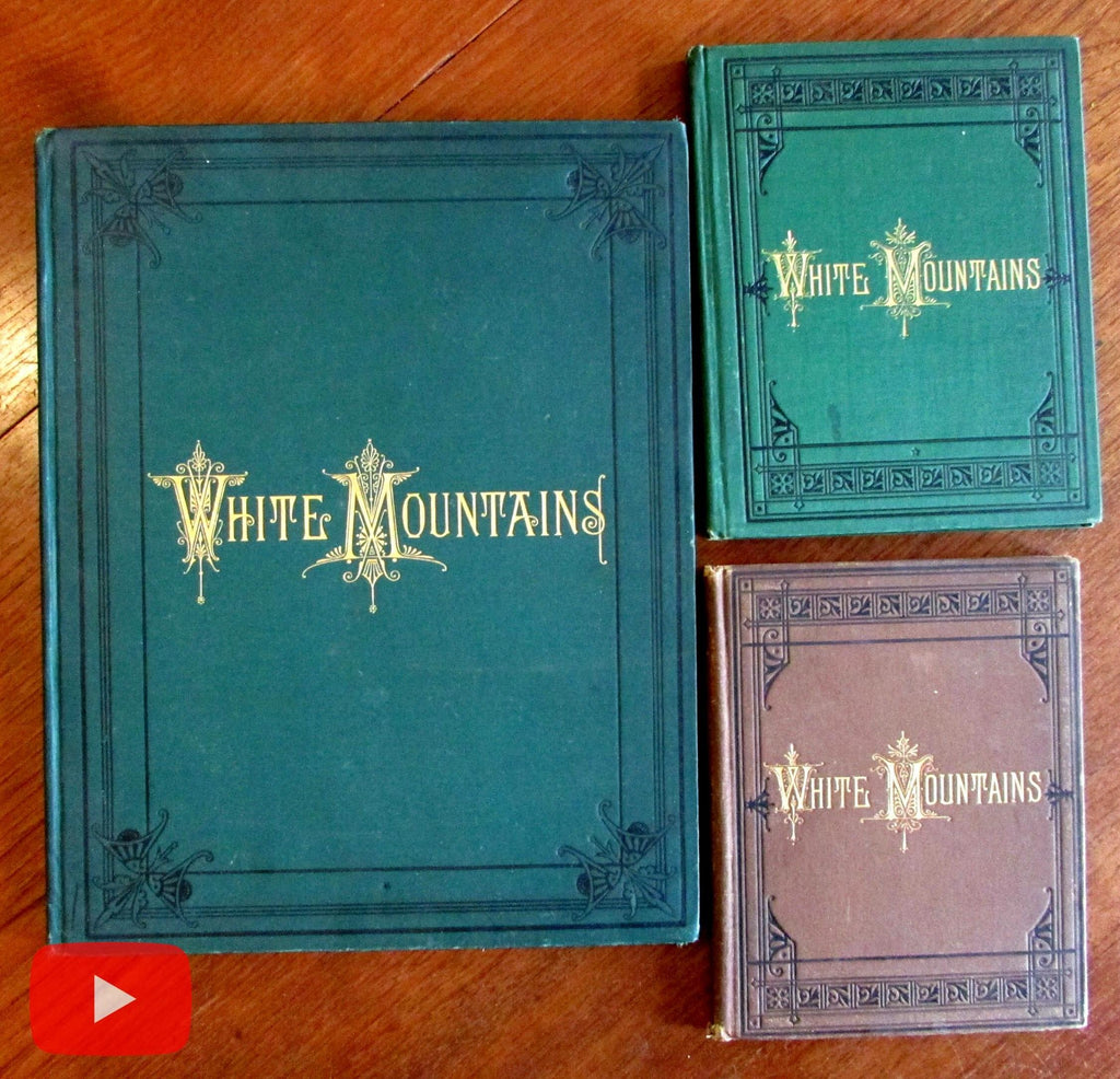 White Mountains of New Hampshire 1879 Sweetser Chisholm lot x 3 view books