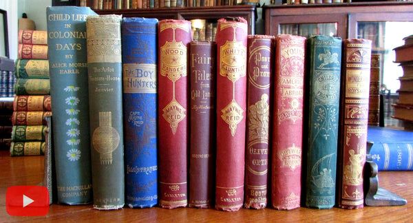 Children's juvenile books 1867-1904 Lot x 10 gilt cloth attractive Fairy Tales
