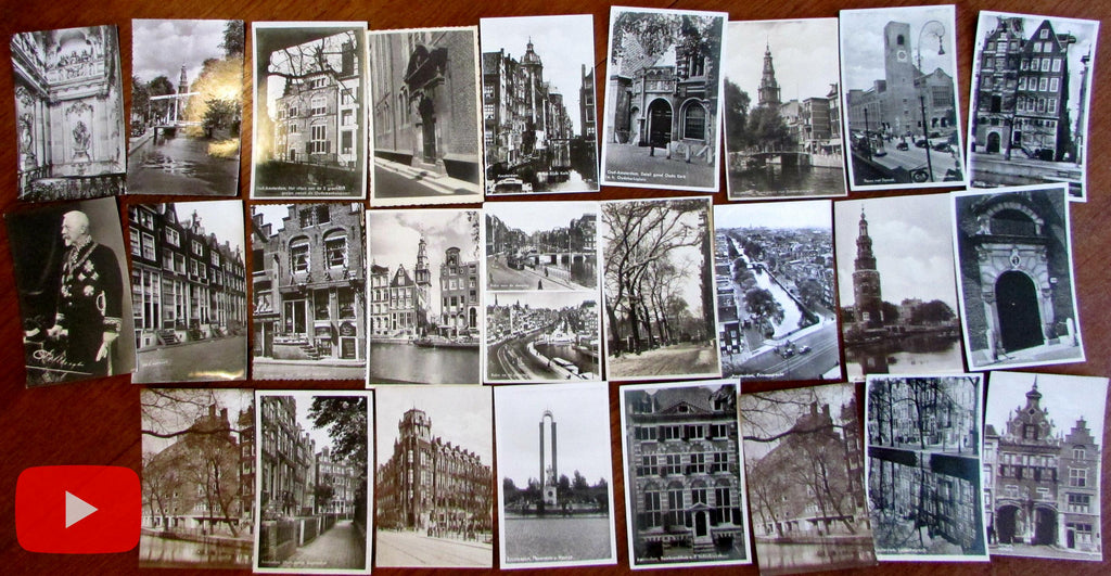 Holland Amsterdam city views lot x 26 postcards real photo nice details